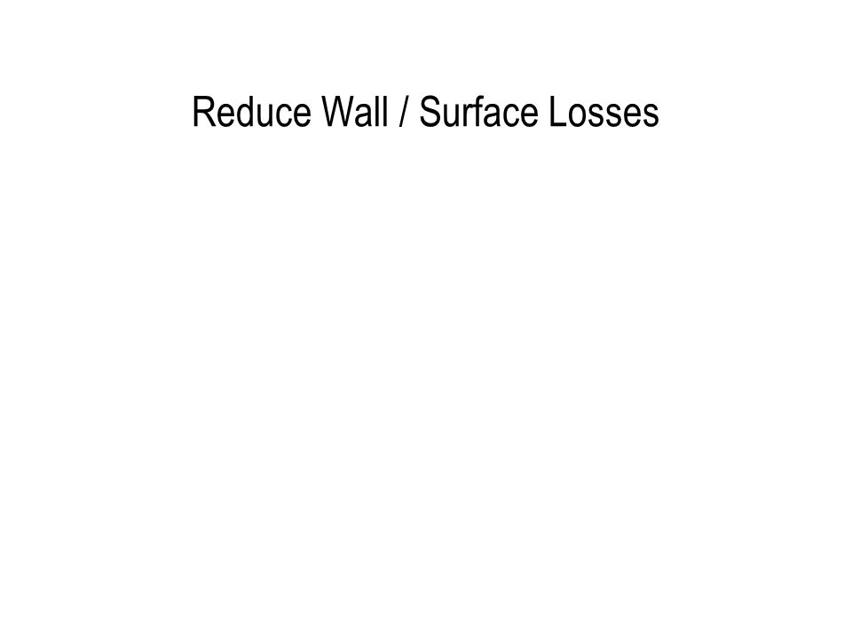 Reduce Wall / Surface Losses