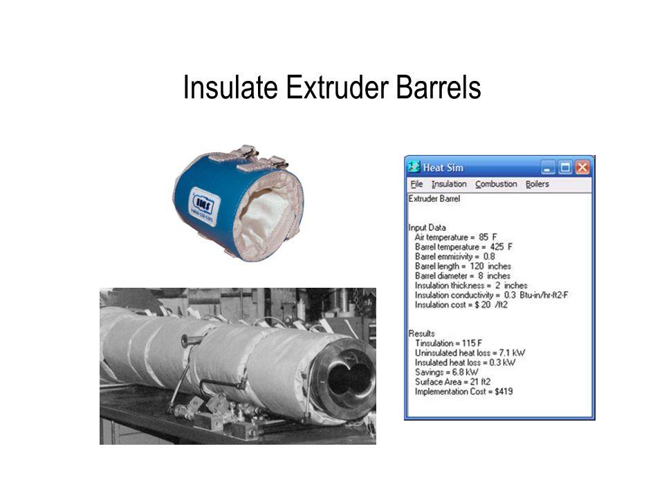 Insulate Extruder Barrels