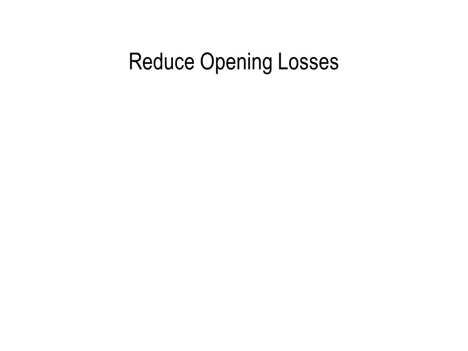 Reduce Opening Losses