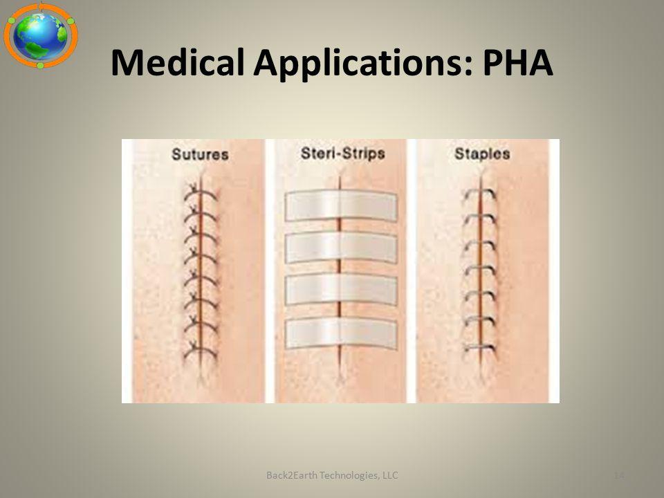Medical Applications: PHA Back2Earth Technologies, LLC14