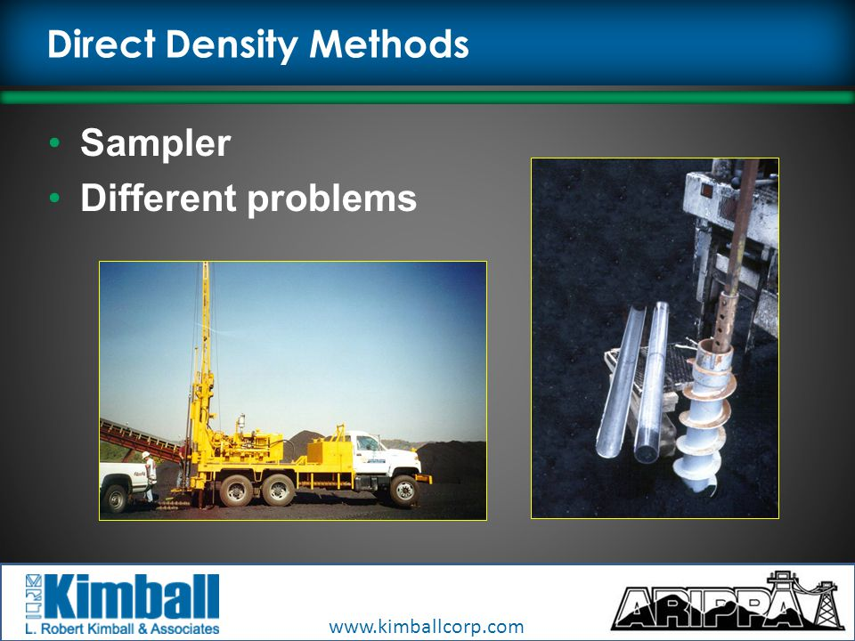 Direct Density Methods Sampler Different problems