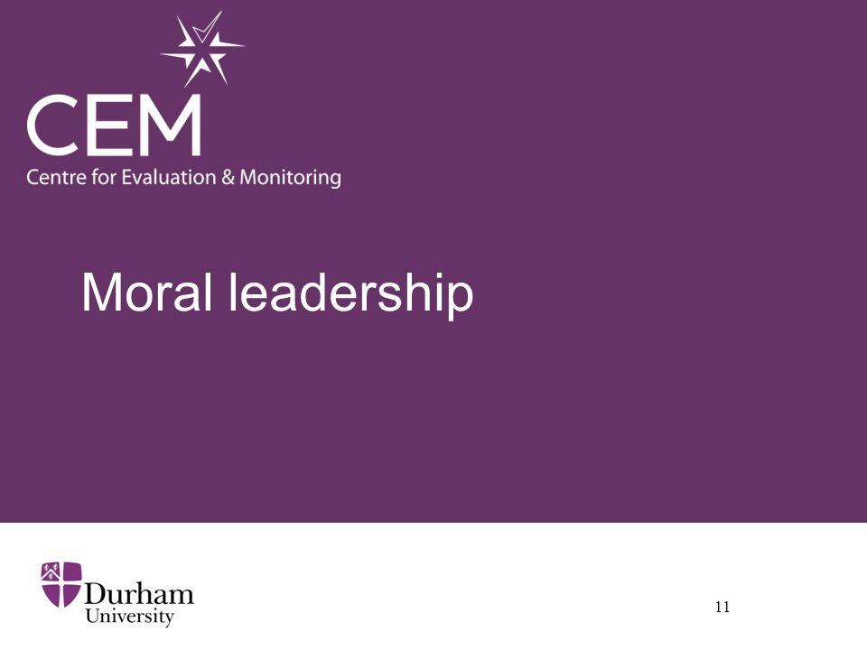Moral leadership 11