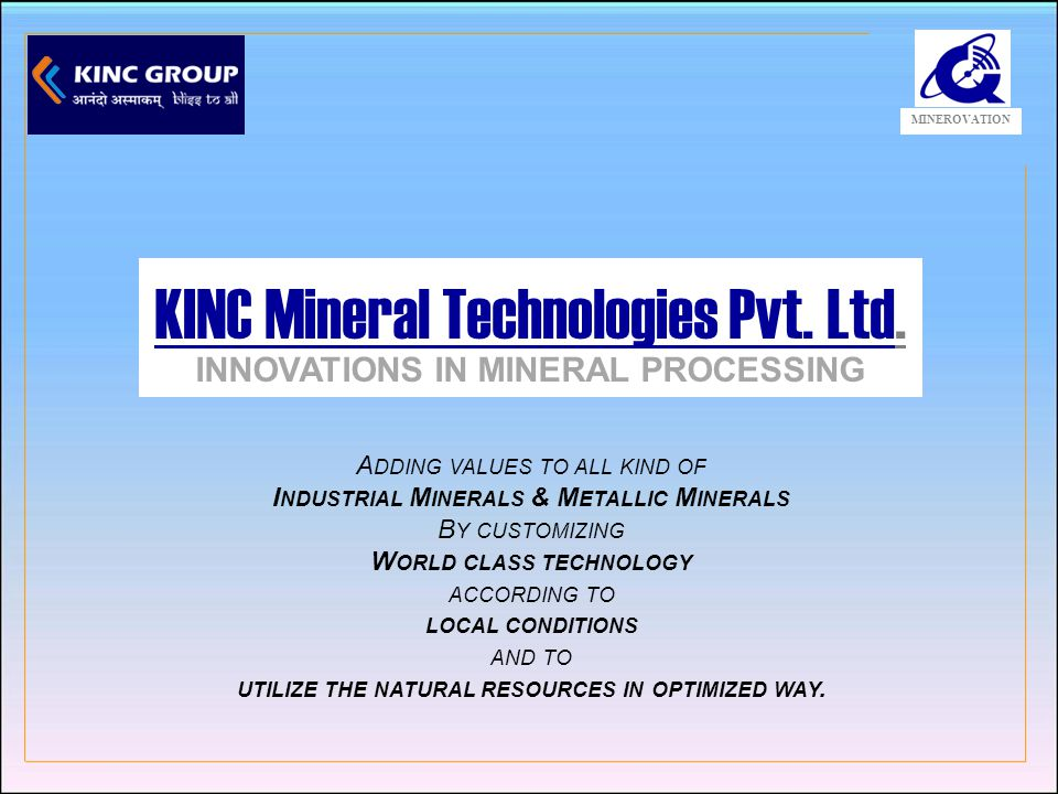 Operations in Engineering, Exploration and Energy World Class Mineral Processing Technologies Mining Assets in Africa Fuel Saving Gasifier Plants Customized Engineering Solutions Organic Farming