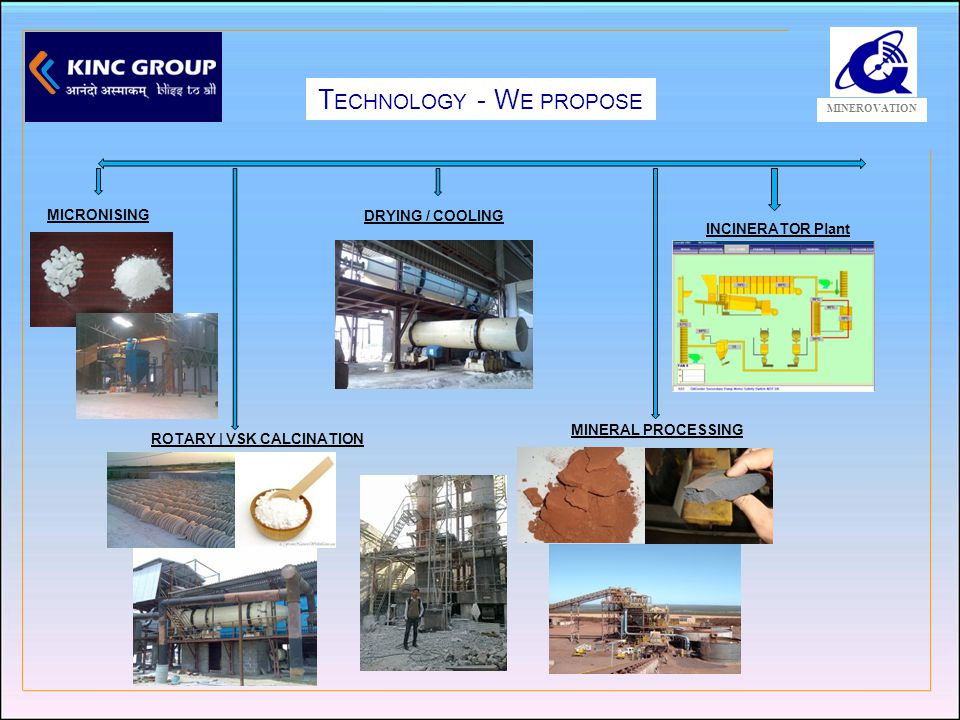 KMTPL A DVANTAGE MINEROVATION P ROVIDING U NIQUE T OTAL SEPARATION SOLUTION FOR MINERAL PROCESSING INDUSTRIES FOR MORE THAN 12 YRS.