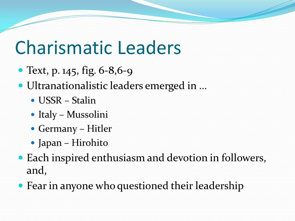 Charismatic Leaders Text, p.145, fig.