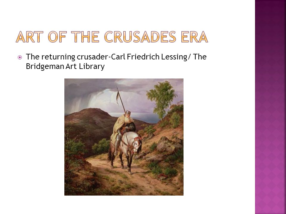  The returning crusader-Carl Friedrich Lessing/ The Bridgeman Art Library