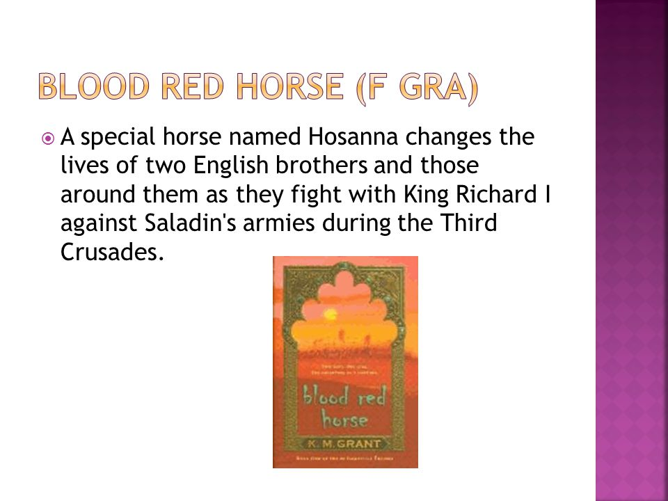  A special horse named Hosanna changes the lives of two English brothers and those around them as they fight with King Richard I against Saladin s armies during the Third Crusades.