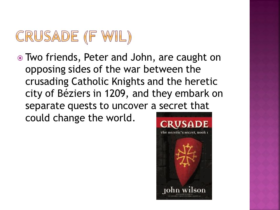  Two friends, Peter and John, are caught on opposing sides of the war between the crusading Catholic Knights and the heretic city of Béziers in 1209,