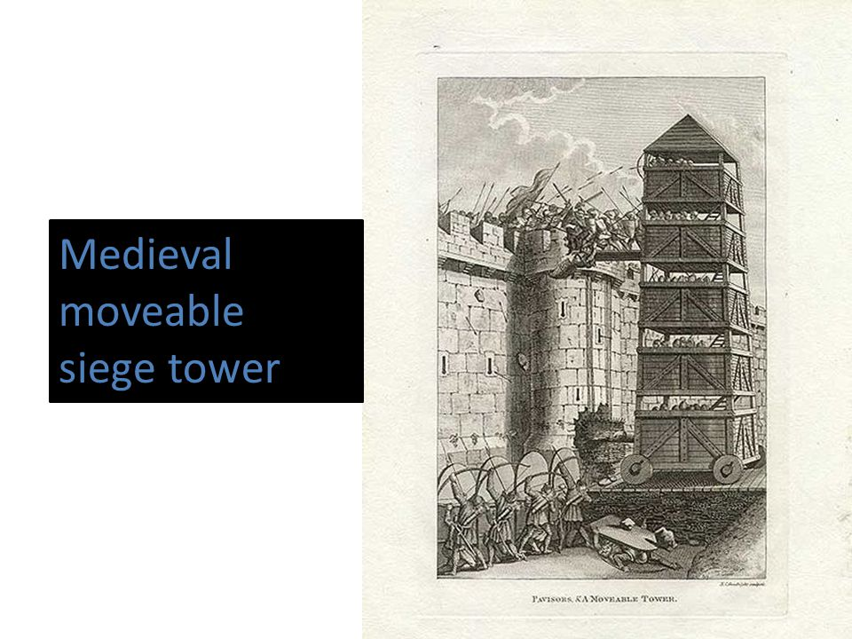 Medieval moveable siege tower