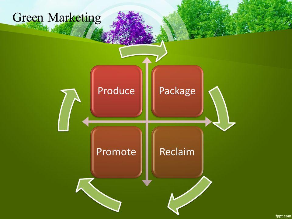 Green Marketing ProducePackagePromoteReclaim
