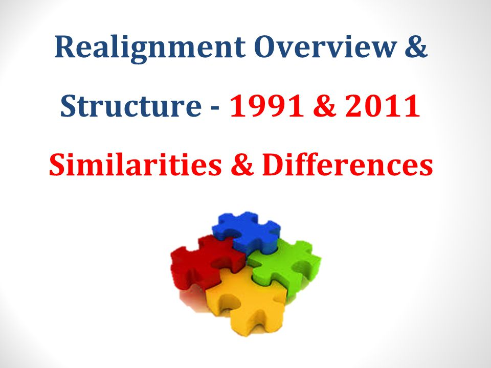 Realignment Overview & Structure - 1991 & 2011 Similarities & Differences