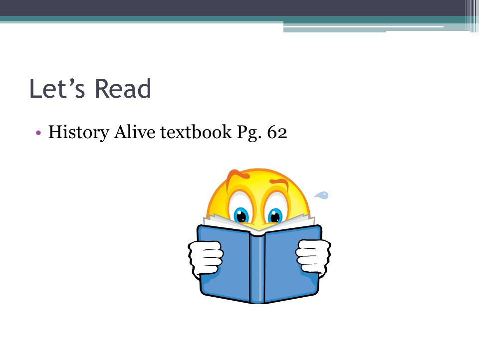 Let's Read History Alive textbook Pg. 62