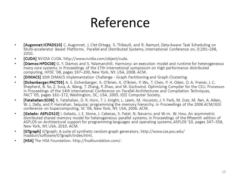 Reference [Augonnet:ICPADS10] C. Augonnet, J. Clet-Ortega, S.