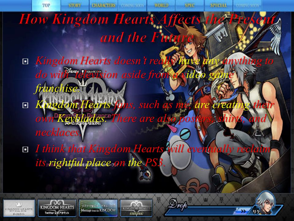  There doesn't really seem to be any guidelines in the Kingdom Hearts games other than the usual gaming borders and having only 3 party members (including you) in the group.