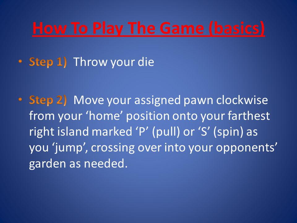How To Play The Game (basics)