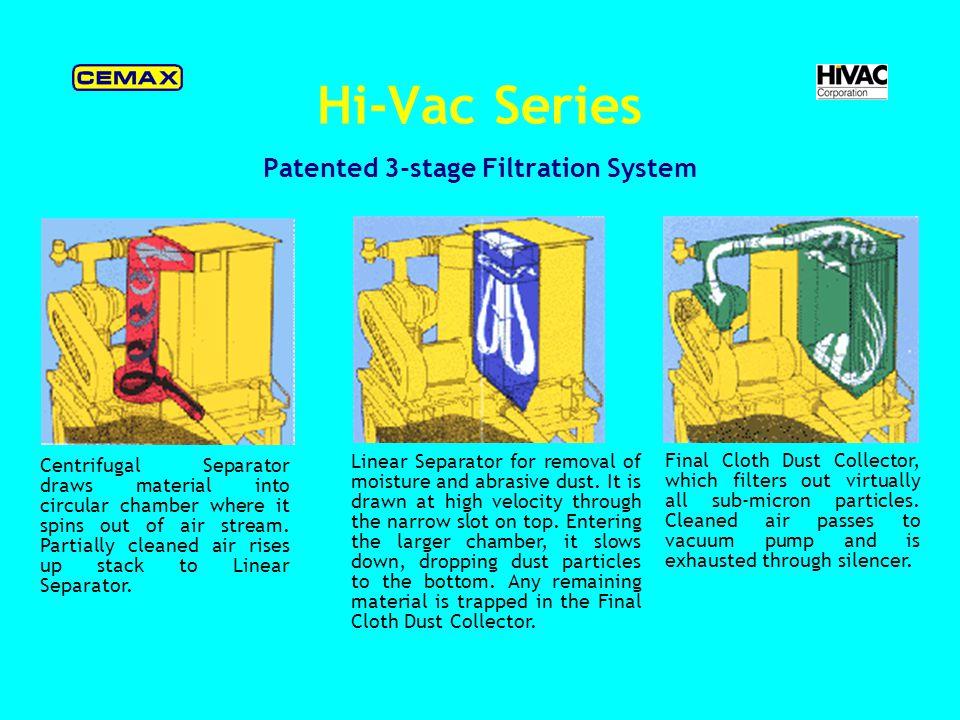 Hi-Vac Series Powerhead Design Features (exclusive) Rubber Tire Trailer Service Platform & Stand Intercept Hopper Pallet Cart