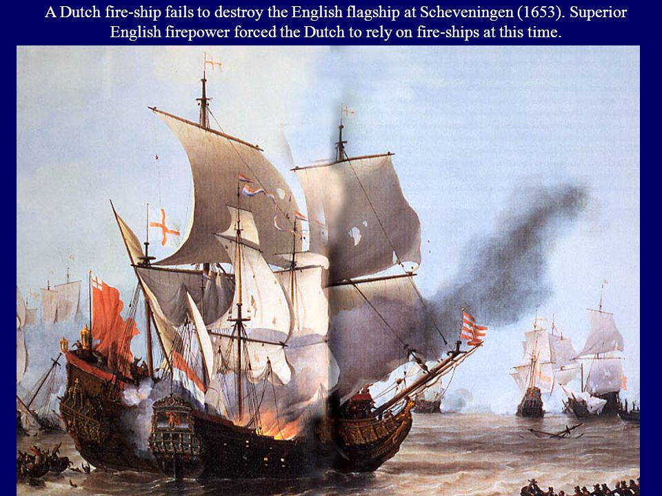 The English badly defeat the Dutch Fleet at Gabbard Shoal (1653)