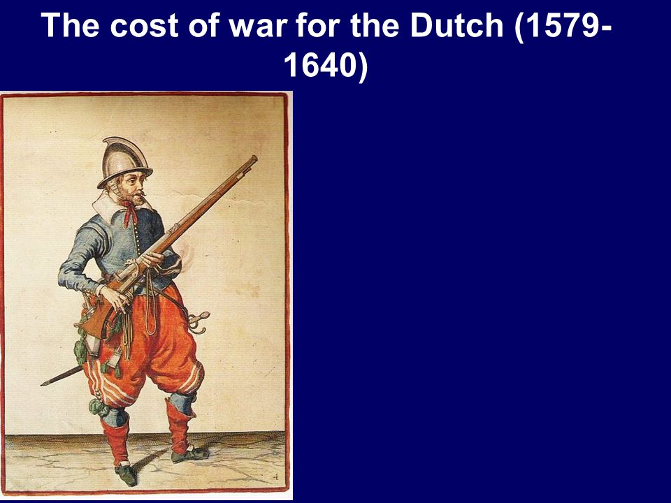The cost of war for the Dutch (1579- 1640)