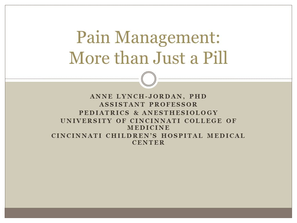 Impact of Chronic/Recurrent Pain Pain affects FUNCTIONING Physical Emotional Social Proper treatment addresses pain and functioning simultaneously