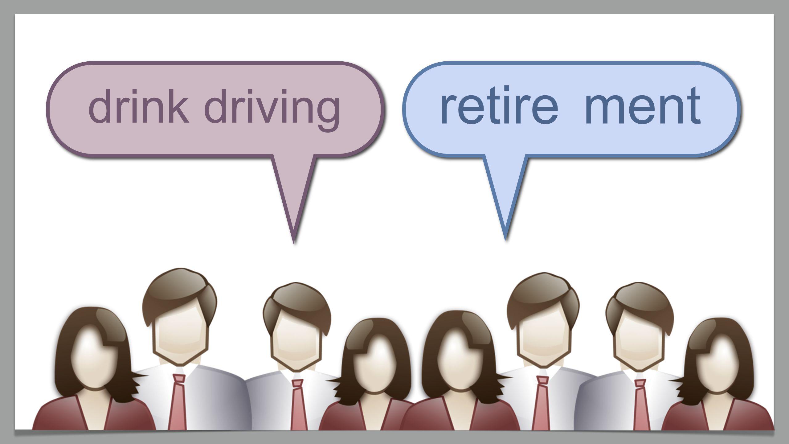 retirement drink driving