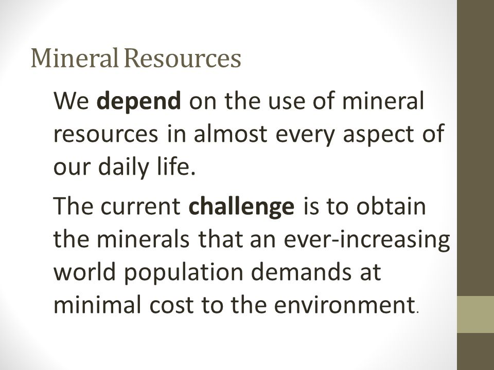 Mineral Resources and Their Uses