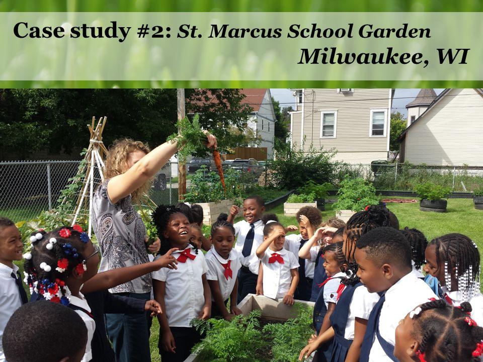 Case study #2: St. Marcus School Garden Milwaukee, WI