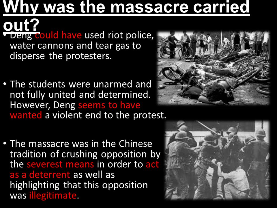 Why was the massacre carried out.