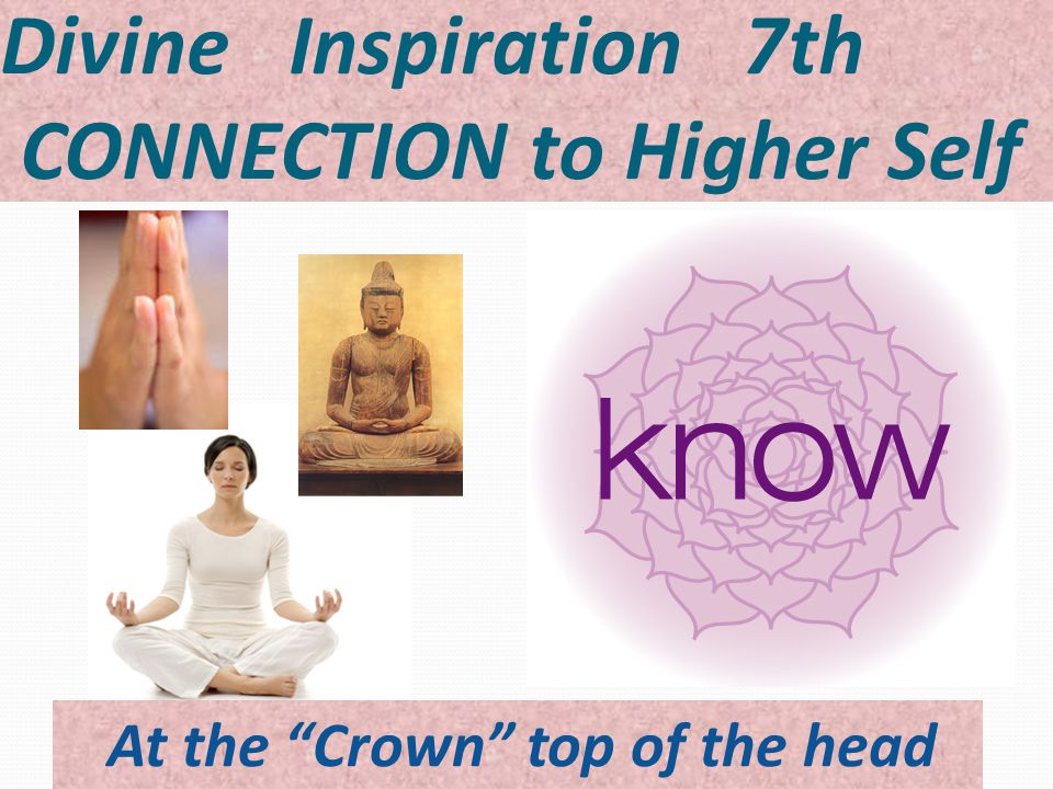 Divine Inspiration 7th CONNECTION to Higher Self At the Crown top of the head