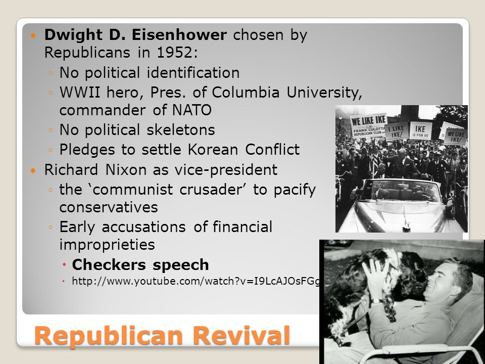 Republican Revival Dwight D.