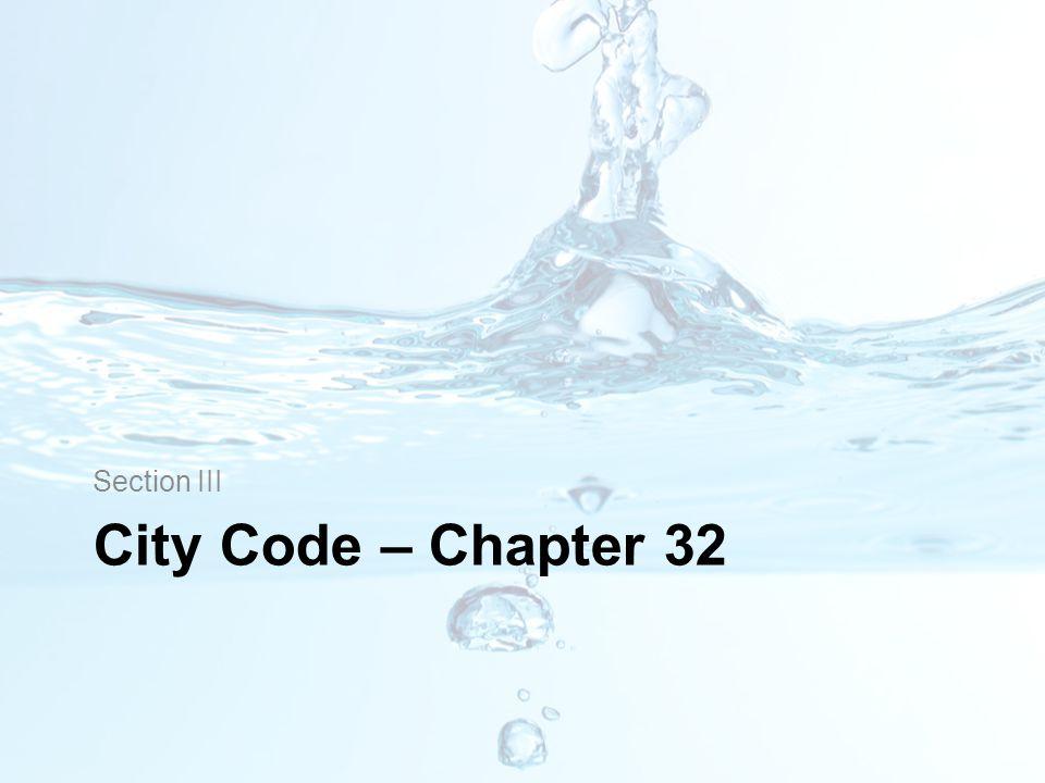 City Code – Chapter 32 Section III