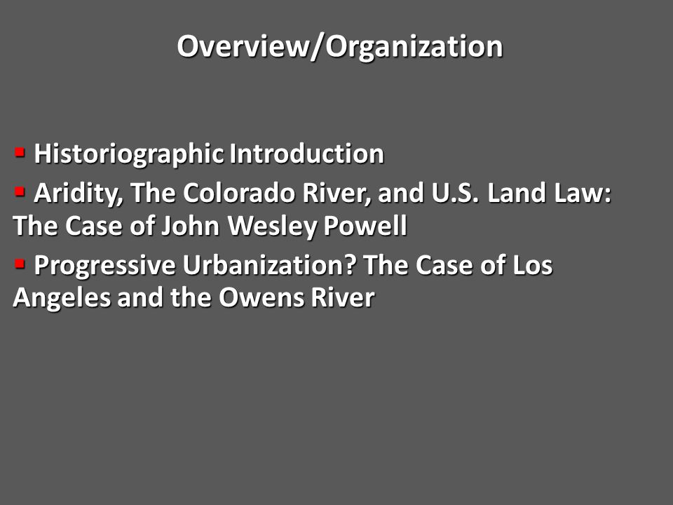 Federal Land Acts—Where Land, Water, and Citizenship Meet  Northwest Ordinances (1784, 1785, 1787)  Central/Federal government policy meant to raise revenue through land auctions  System set up to convert public domain into private property  Naturalization Law of 1795  any alien, being a free white person, may be admitted to become a citizen of the United States  Immigrants not barred from owning private property  Homestead Act of 1862  Immigrants who intend to naturalize can legally homestead surveyed land  Aridity a challenge to these American institutions