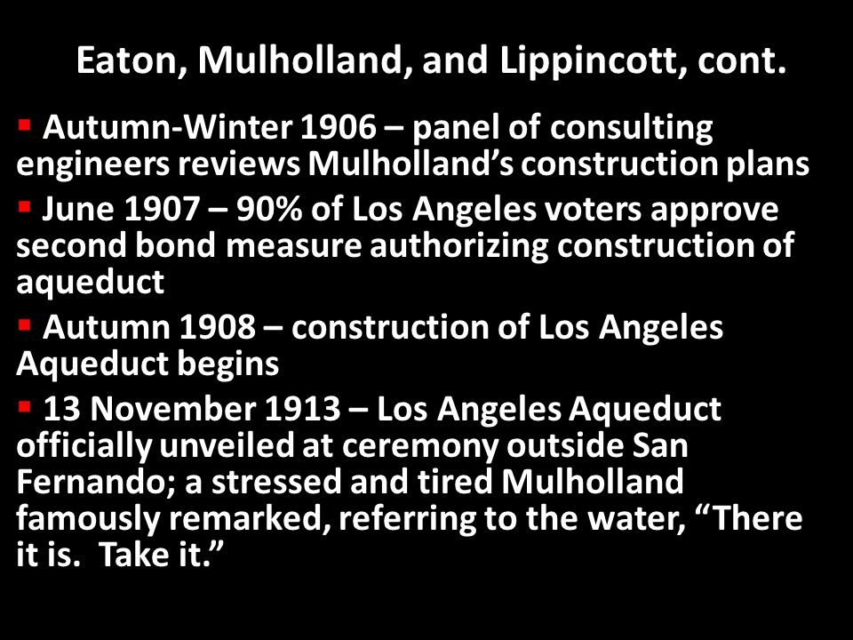 Eaton, Mulholland, and Lippincott, cont. Eaton, Mulholland, and Lippincott, cont.