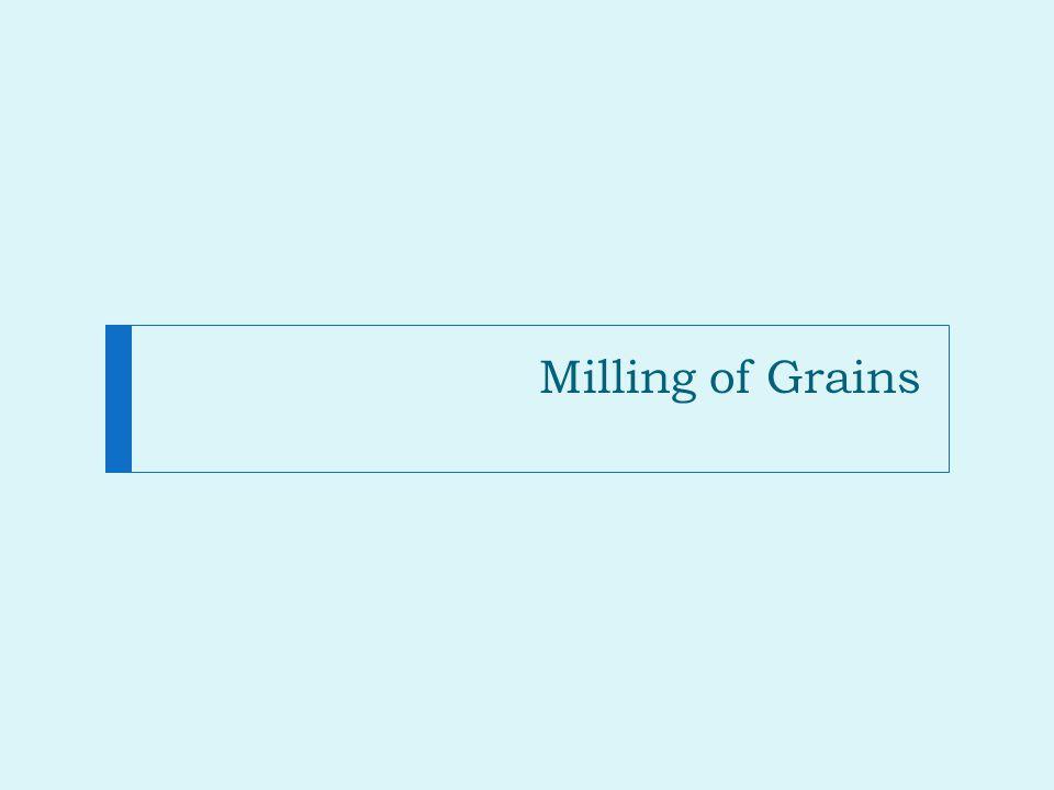 Milling of Grains