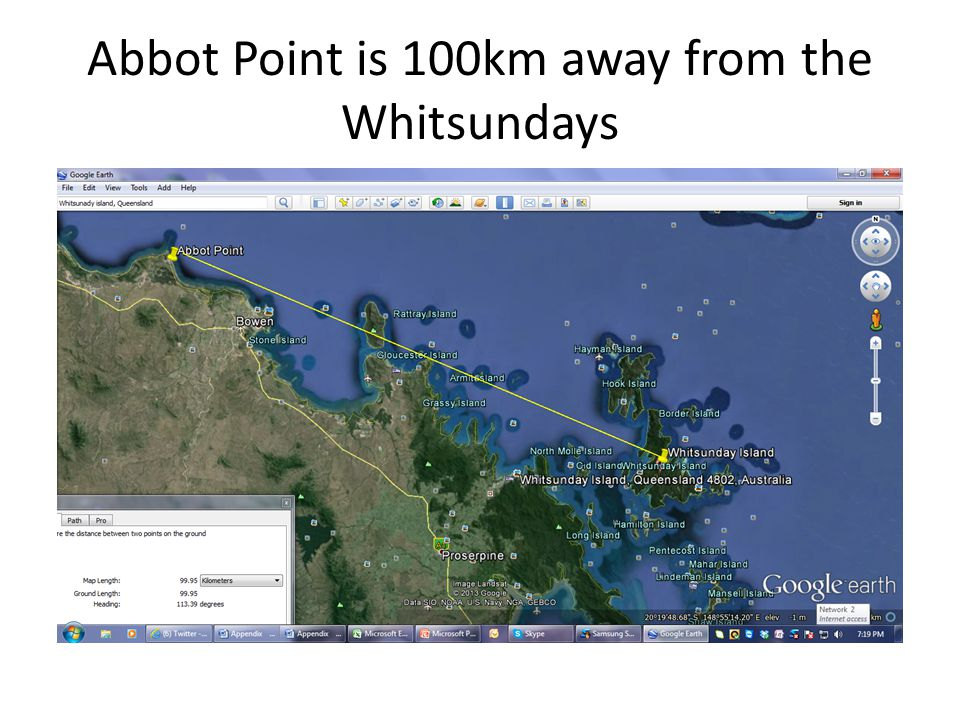 Abbot Point is 100km away from the Whitsundays