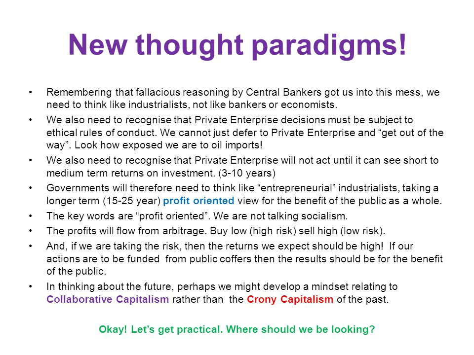 New thought paradigms.