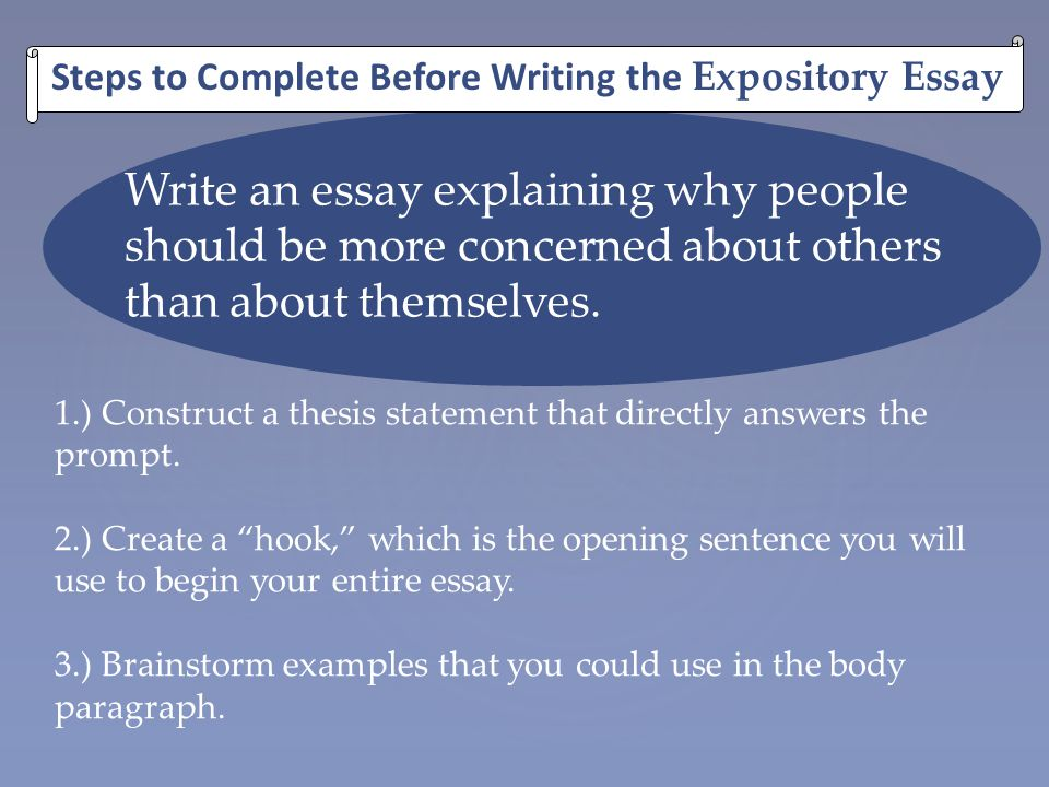 Expository essay about helping others