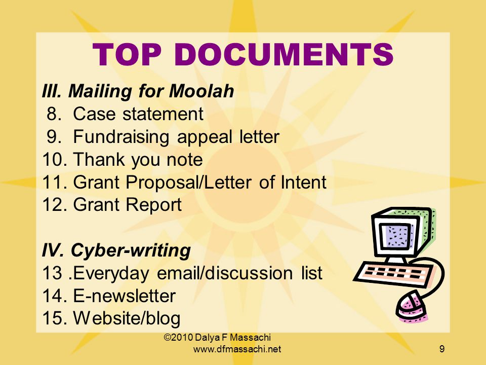 TOP DOCUMENTS I.