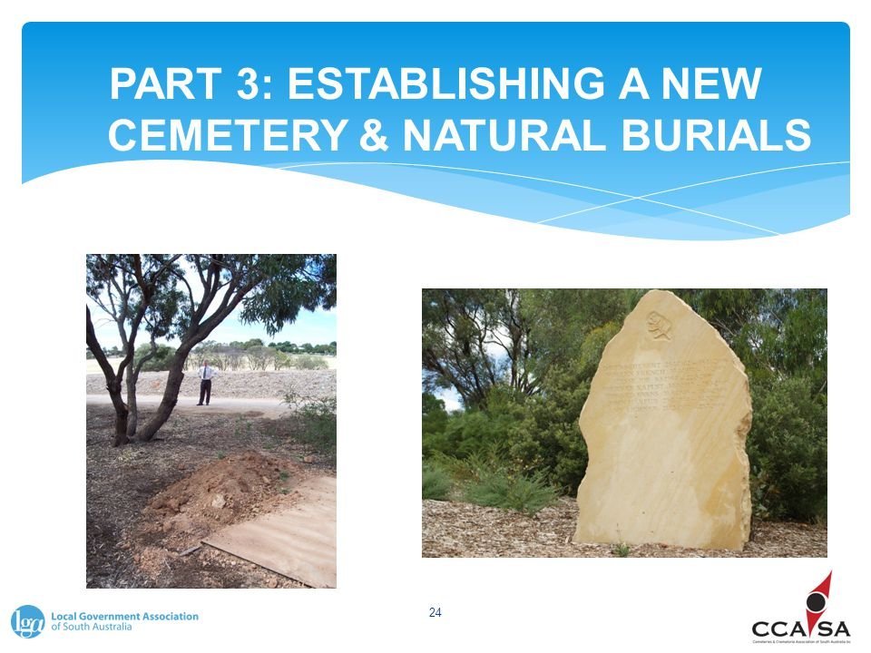 PART 3: ESTABLISHING A NEW CEMETERY & NATURAL BURIALS 24