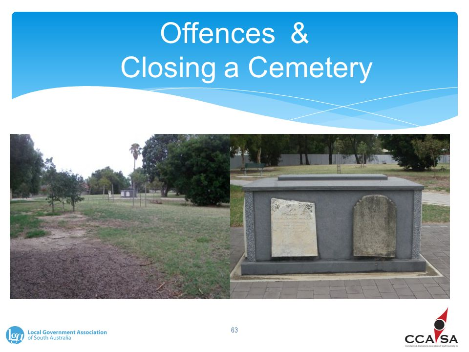 Offences & Closing a Cemetery 63