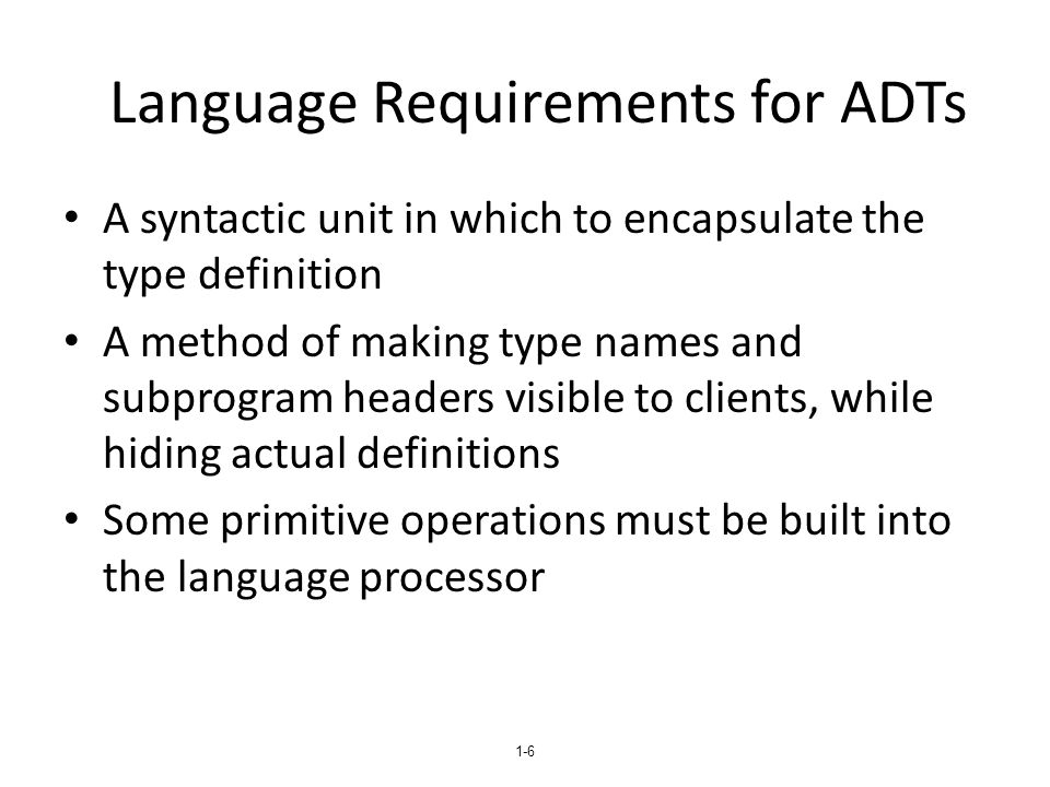 1-47 Ada Packages Ada specification packages can include any number of data and subprogram declarations Ada packages can be compiled separately A package's specification and body parts can be compiled separately