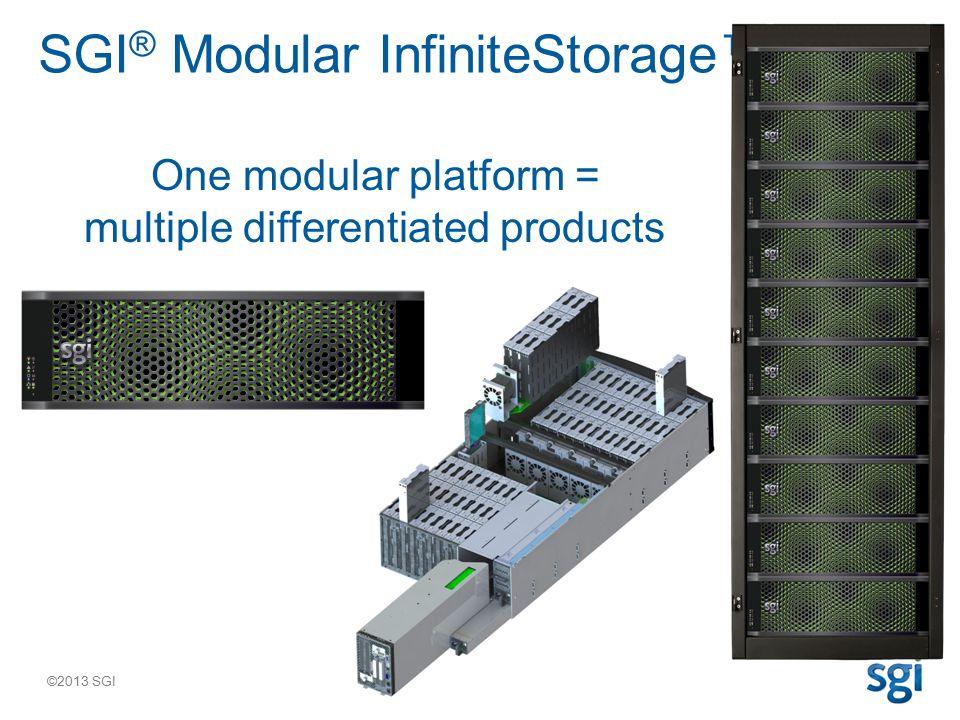 ©2013 SGI Base Platform Key Value: Flexibility –A single modular platform can address a wide range of storage and application needs to meet virtually any business objective with a single flexible platform.