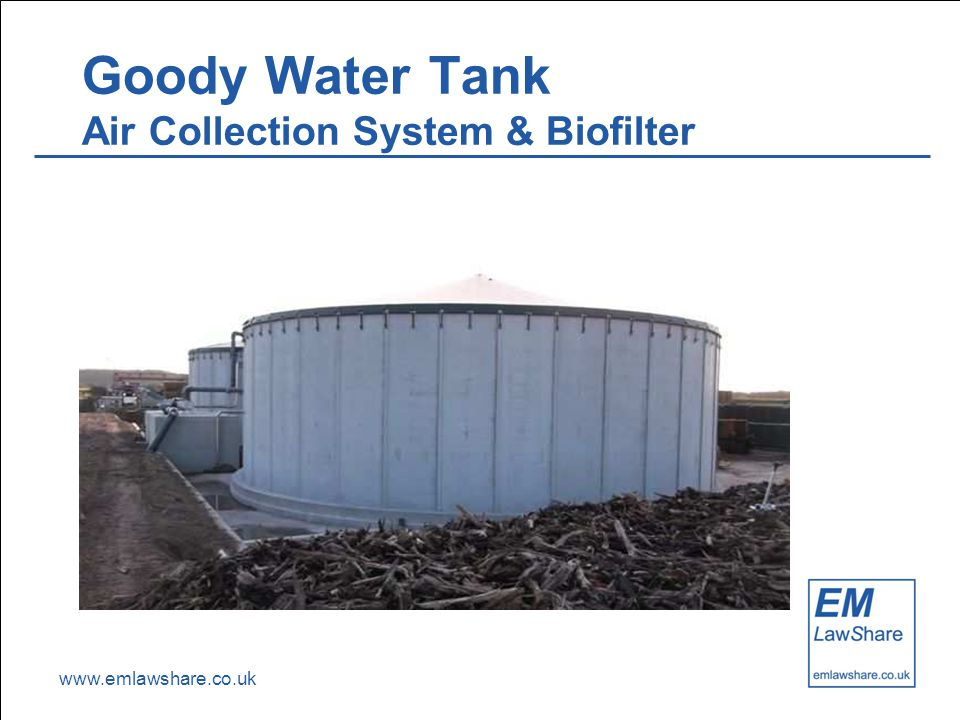 www.emlawshare.co.uk Goody Water Tank Air Collection System & Biofilter