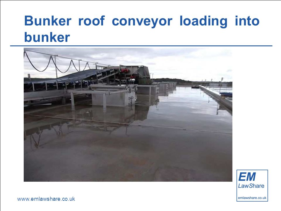 www.emlawshare.co.uk Bunker roof conveyor loading into bunker