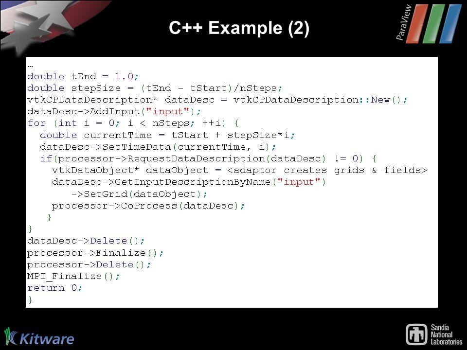 C++ Example (2)
