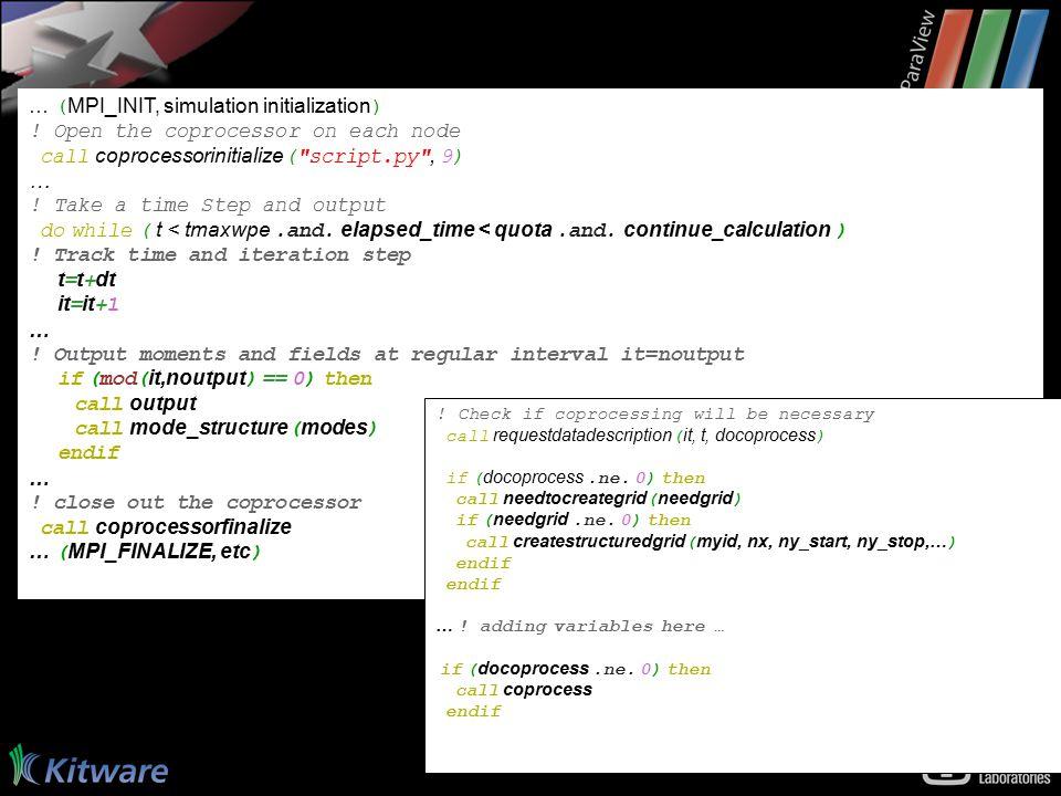 … ( MPI_INIT, simulation initialization ) .