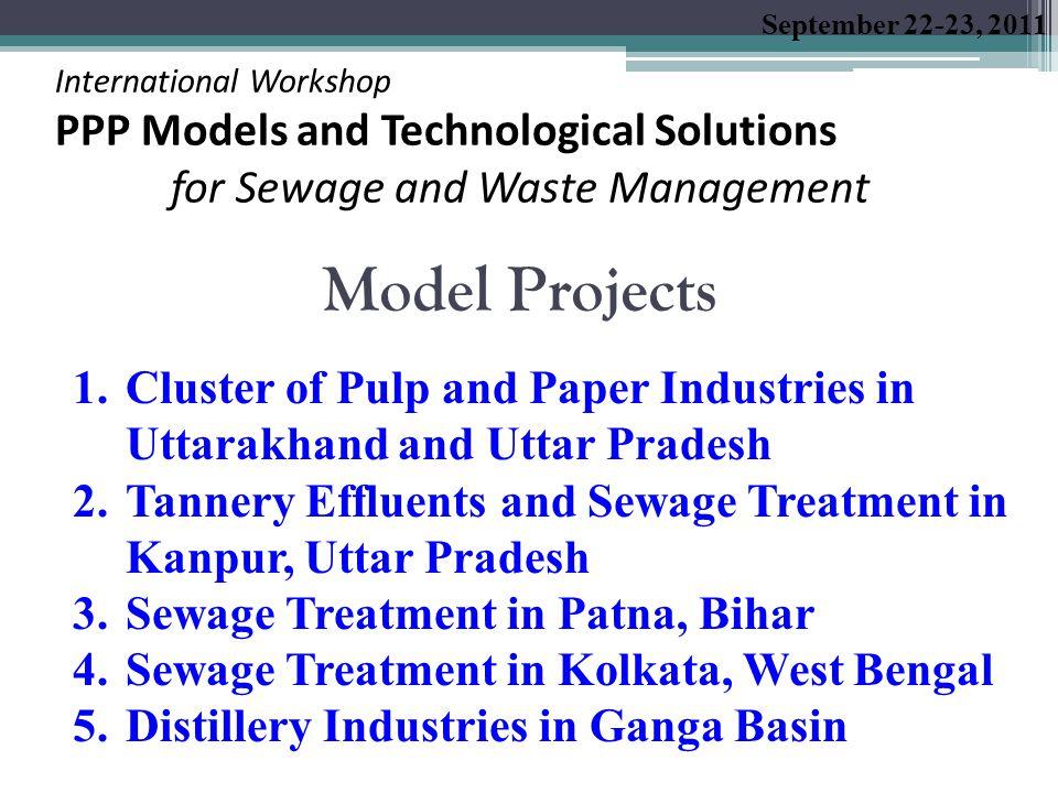 Pollution of River Ganga: Contribution of Pulp and Paper Industries  Through Tributaries - Ram Ganga and Kali  Wastewater Discharge in Ram Ganga  Uttarakhand: 162 mld; Uttar Pradesh: 74 mld  Industrial Waste in Kali  86 mld; 13,000 TPD BOD Load  Pulp and Paper Industries Contribution:  Through Ram Ganga  Uttarakhand: 146 mld (90%); Uttar Pradesh: 39 mld (53%)  Through Kali  37 mld (43%)