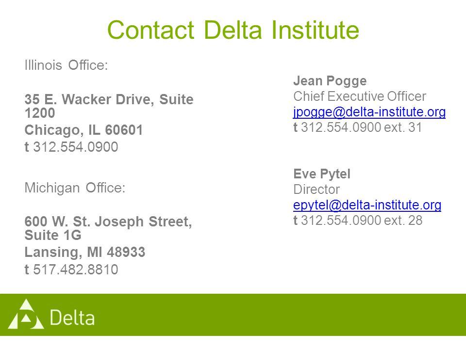 Contact Delta Institute Illinois Office: 35 E.