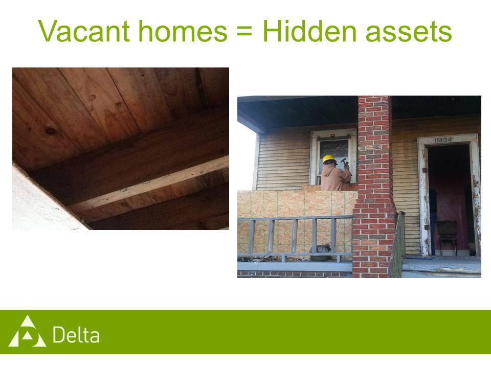 Vacant homes = Hidden assets