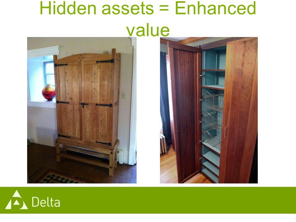 Hidden assets = Enhanced value