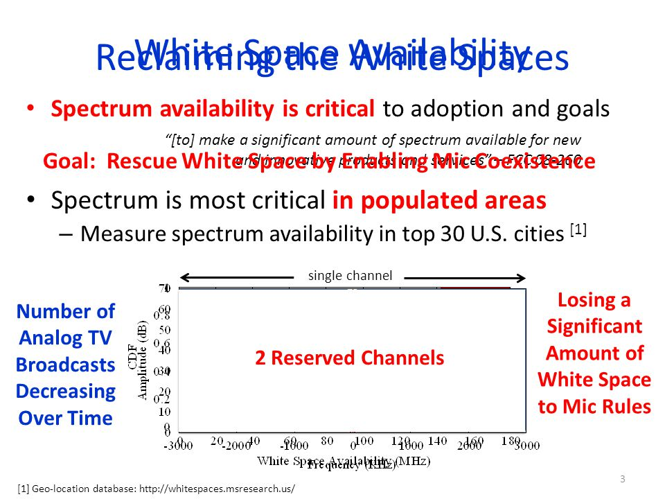 Evaluating SEISMIC Full MicProtector and SEISMIC WSD prototypes – custom USRP2 builds with UHF front ends Evaluation on several coexistence points: – Effectiveness: ability to avoid audio disruption – Efficiency: ability to enable high spectrum re-use Single microphone scenario Many microphone scenario 24